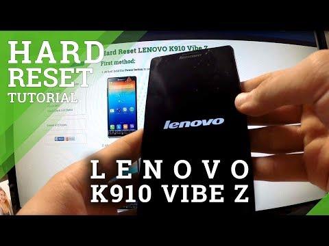 Hard Reset Lenovo K910 Vibe Z - Factory Reset Tutorial