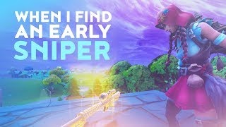 THIS IS WHAT HAPPENS WHEN I FIND AN EARLY SNIPER! (Fortnite Battle Royale - Dakotaz)