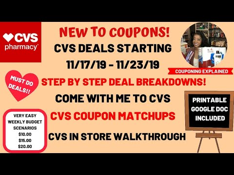 SIMPLE VERY EASY NEW TO COUPONS CVS COUPON DEALS STARTING 11/17/19~DEAL BREAKDOWNS COME WITH ME ❤️