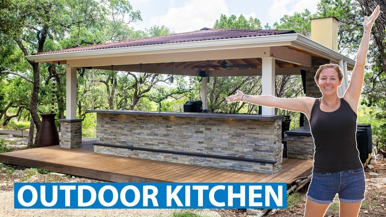 Building an Outdoor Kitchen! | From Start to Finish | Part 11