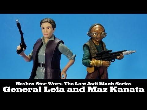 Star Wars Black Series General Leia and Maz Kanata Review The Last Jedi Hasbro