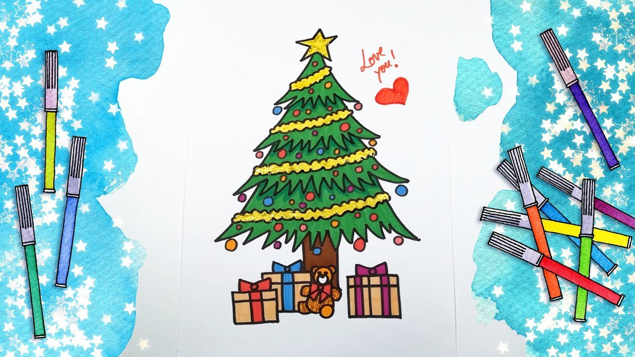 Drawing and Coloring for Kids | Christmas Edition 1 | Draw the ...