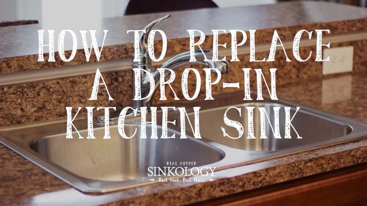how to install a drop in kitchen sink