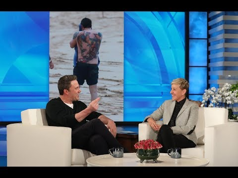 Ben Affleck Loves His Back Tattoo