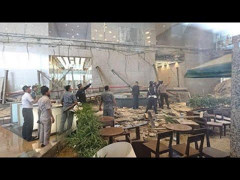 Indonésie : un étage s'effondre à la Bourse de Jakarta, 75 blessés