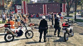 GTA 5   POLÍCIA DA ROCAM SP INVADE BAILE FUNK DA CARRETA TREME TREME