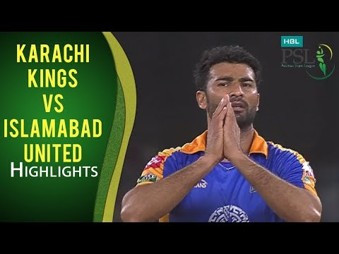 PSL 2017 Match 20: Karachi Kings vs Islamabad United Highlights