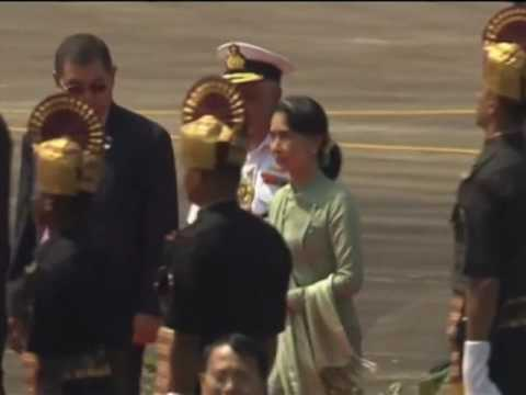 Aung San Suu Kyi arrives in Goa to attend events at BRICS summit