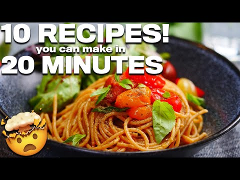 10 EASY RECIPES you can make IN UNDER 20 minutes! (VEGAN)🤤