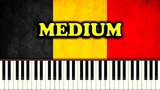 NATIONAL ANTHEM OF BELGIUM - La Brabançonne - Piano Tutorial