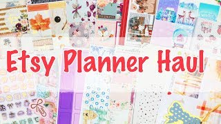 Etsy Planner Stickers Haul