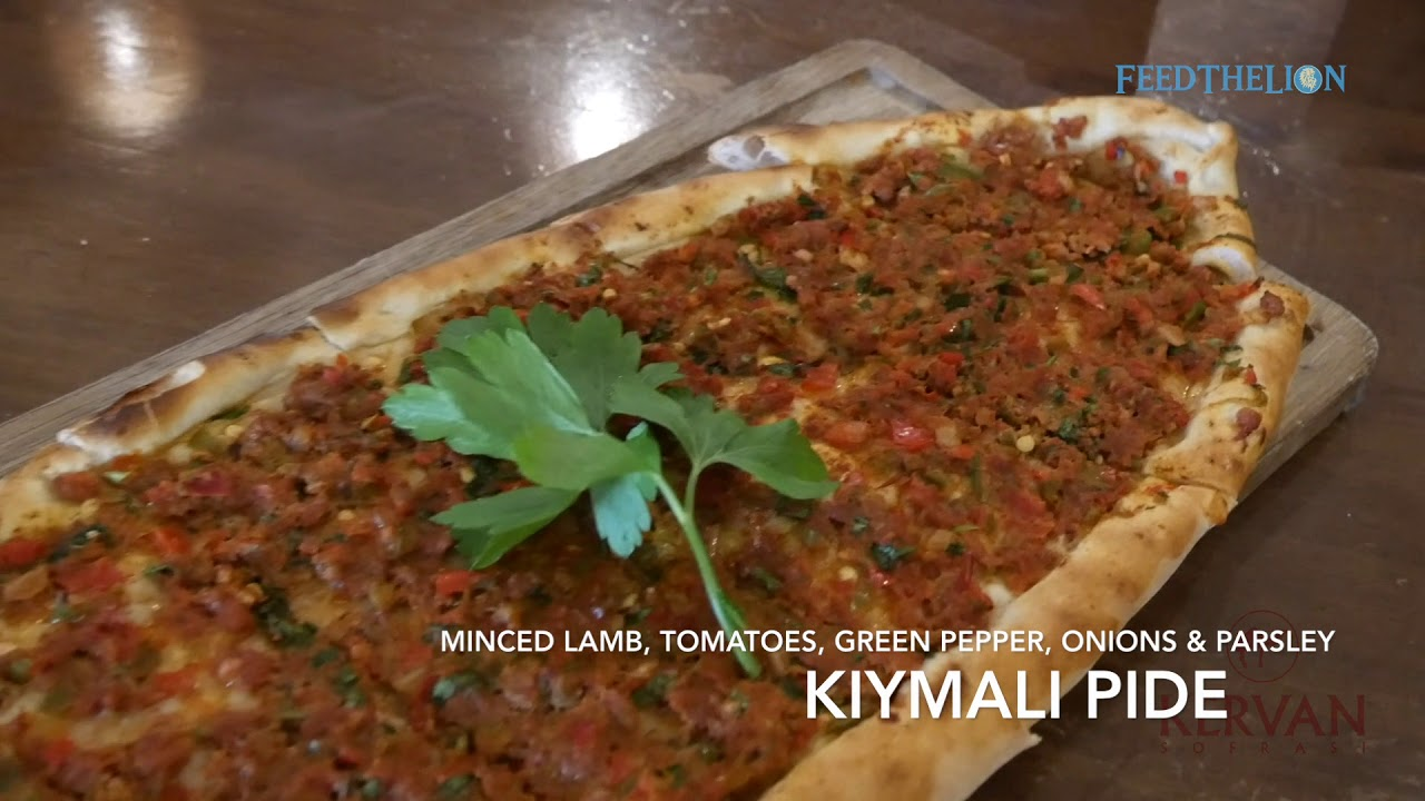 437104a9f240f1 Making a Kiymali Pide (Turkish flat bread with meat and vegetables ...