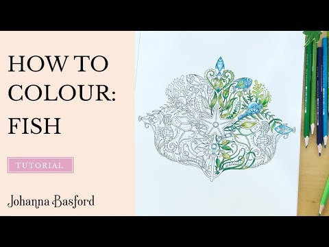 Colouring Tutorial : How To Color A Fish From #LostOcean