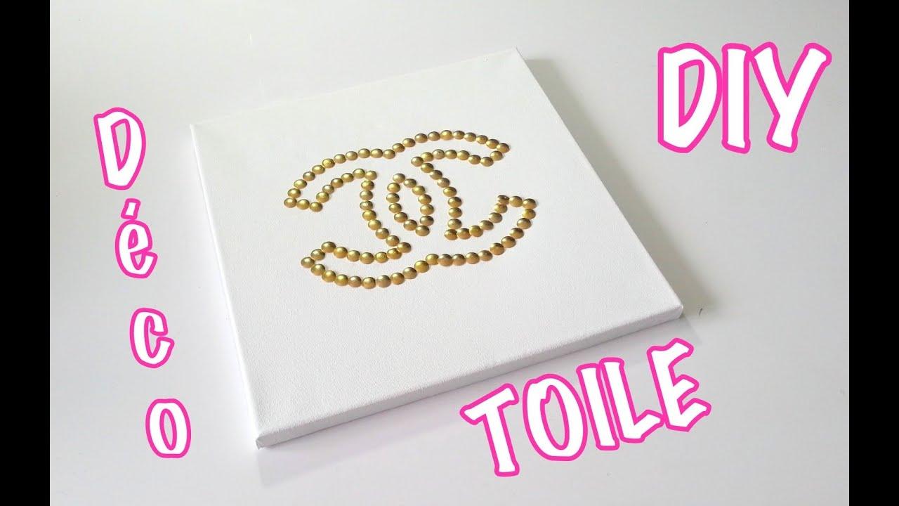 Diy Deco Cadre Logo Chanel Avec Des Punaises