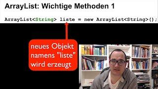 Java: ArrayList 2 (deutsch) - Wichtige Methoden