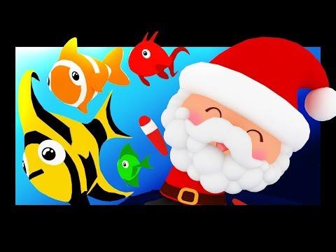 Les petits poissons dans l'eau version Noël - Comptines et chansons - Titounis
