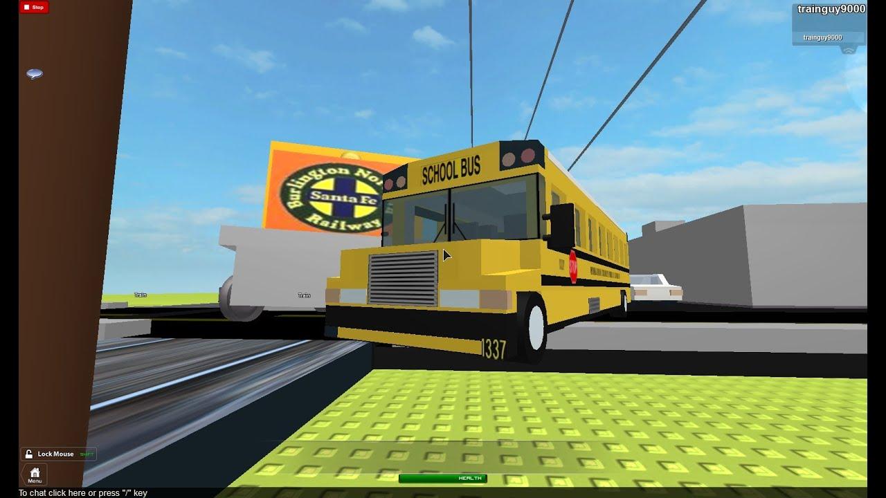 Train Hits School Bus
