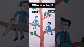 Who Is a Fool? #animation #shorts #drawing #painting #Xiaolin #MissXiaoLin