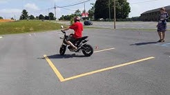 TAKING MOTORCYCLE TEST ON A HONDA GROM/ MSX125
