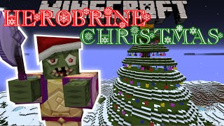 Minecraft: HEROBRINE STOLE CHRISTMAS (Custom Map) Part 1