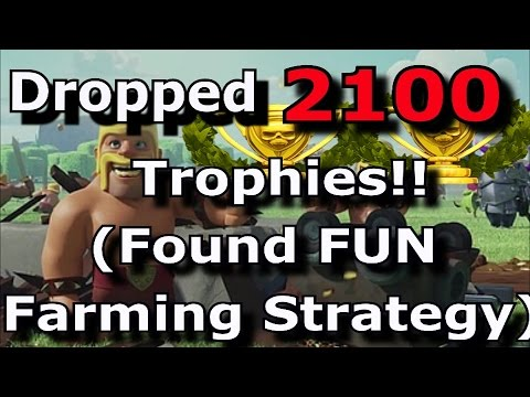 Dropped from 2100 - 0 Trophies & Found SUPER FUN Farming Strategy | Top 5 Movies | COC Talk |