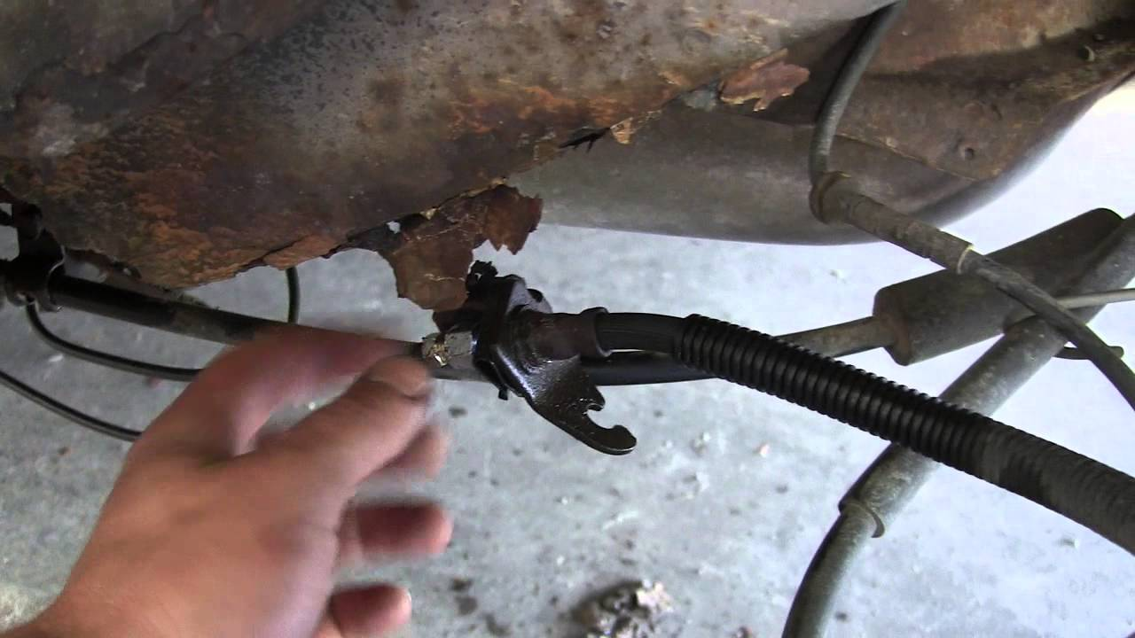 Rusty Buick brake lines - YouTube
