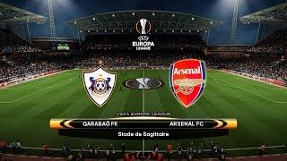 QARABAG vs ARSENAL - UEFA Europa League 04/10/2018 Gameplay