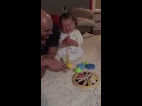 Funny Baby Laughing Hysterically - Cute