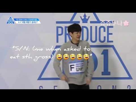Produce 101 S2 EP2 Hanahreum Company Kim Taemin Reevaluation cut (funny subs)