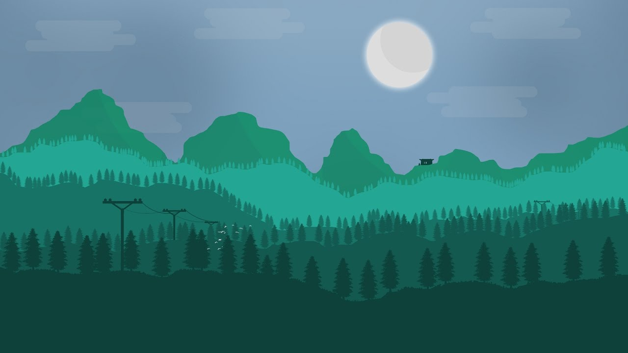 Firewatch inspired 2d landscape speedart youtube - 2d nature wallpapers ...