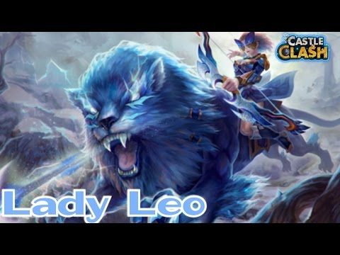 Castle Clash : Lady Leo ! New Hero ! First Impression And Review !