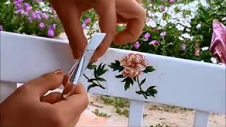 Как покрасить стул своими руками в технике декупаж. Покраска старого стула.