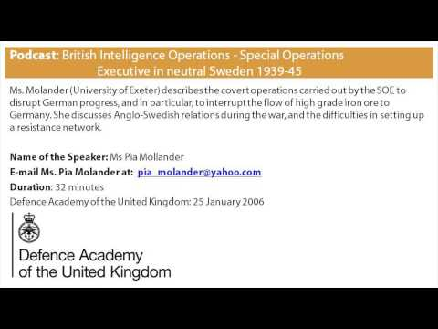 British Intelligence Operations: Special Operations Executive in neutral Sweden 1939-45