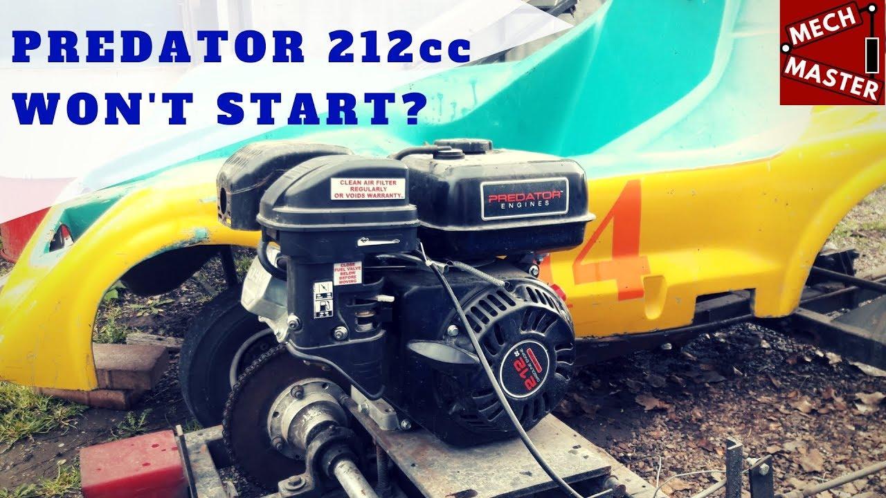 Go Kart Harbor Freight Predator 212 Won't Start?