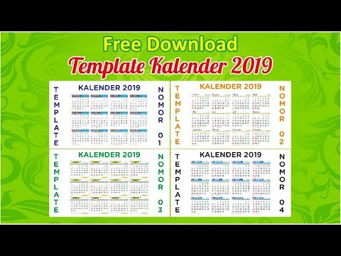 free download kalender 2019 editable youtube. Black Bedroom Furniture Sets. Home Design Ideas