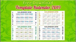 Gambar cover Free Download Kalender 2019 (Editable)