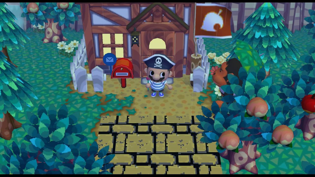 Animal Crossing City Folk Receiving the Birthday Cake 1080p HD