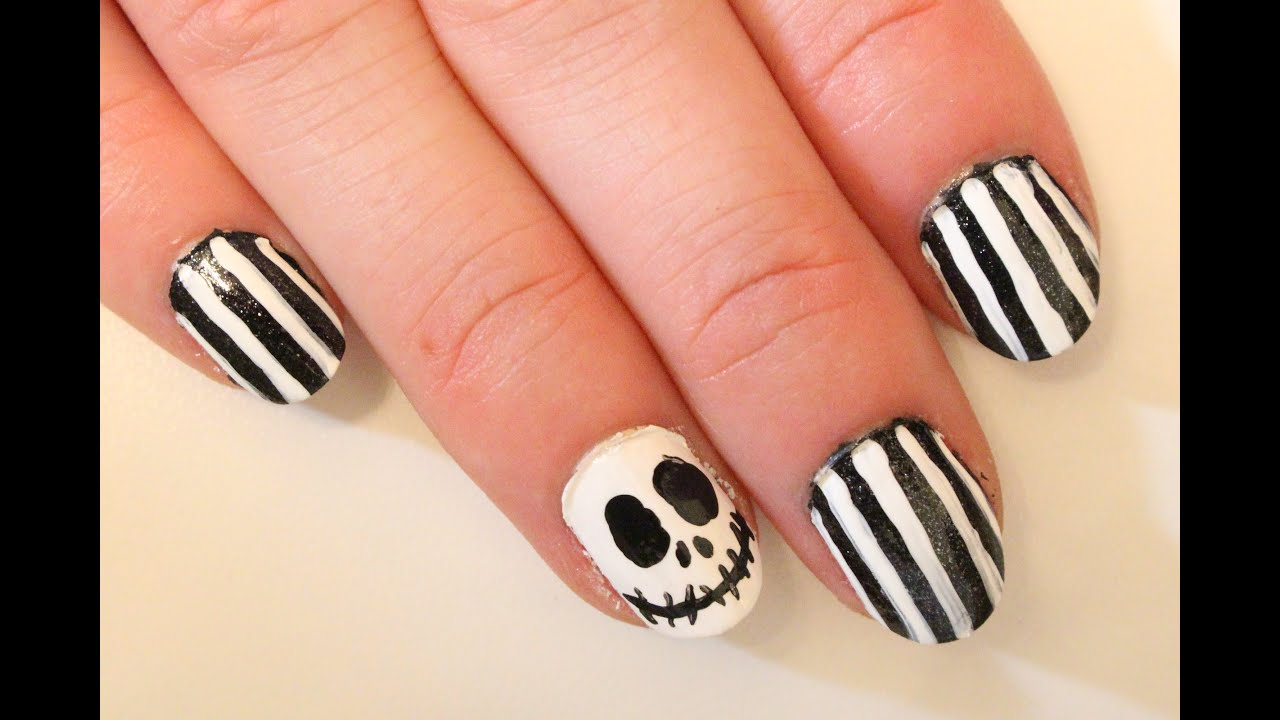 Diy jack skellington s body nightmare before christmas youtube - Halloween Nail Art Jack Skellington Fingernails Youtube Jack Skellington Nail Art