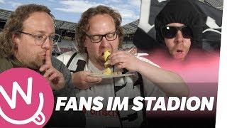 Fans im Stadion (mit Benno)