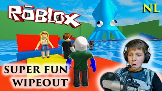Roblox super fun wipeout obby Nederlands