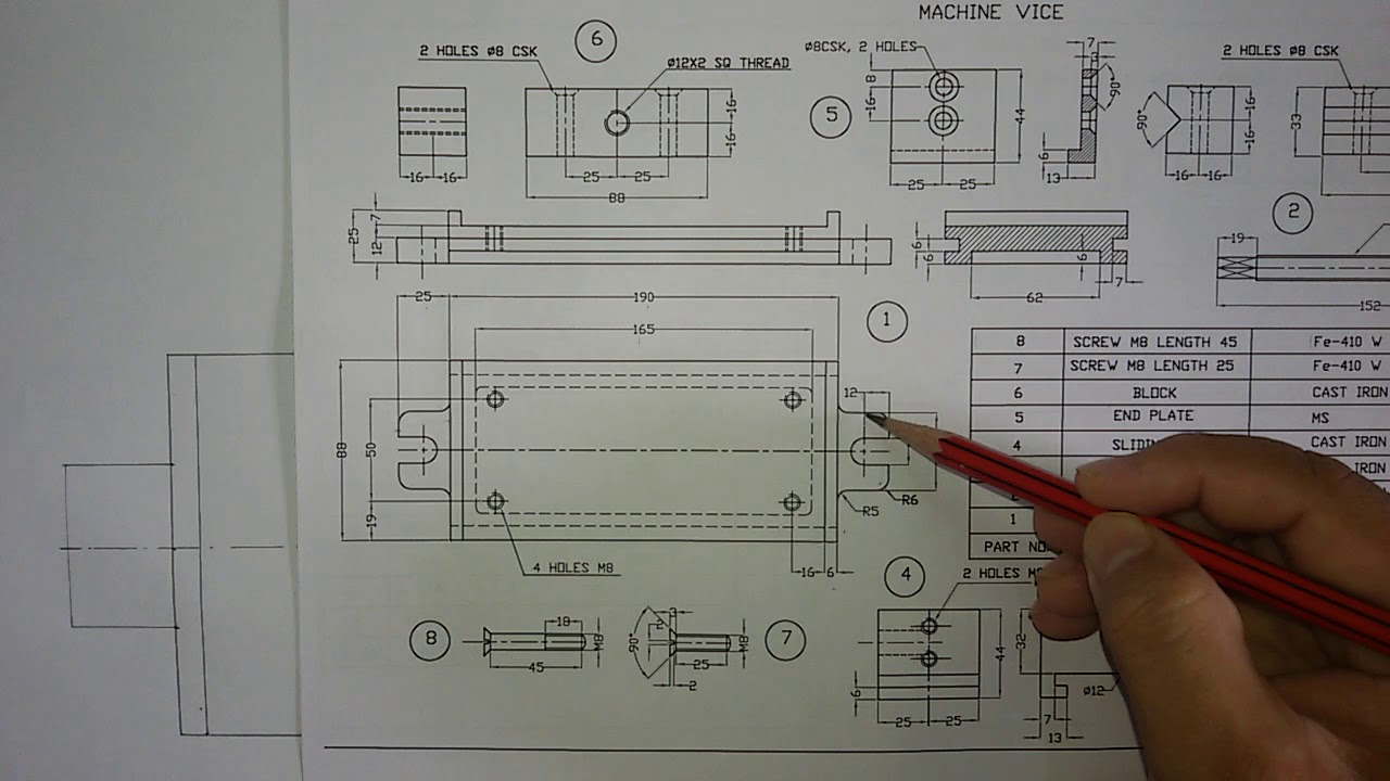Bench Vice Diagram
