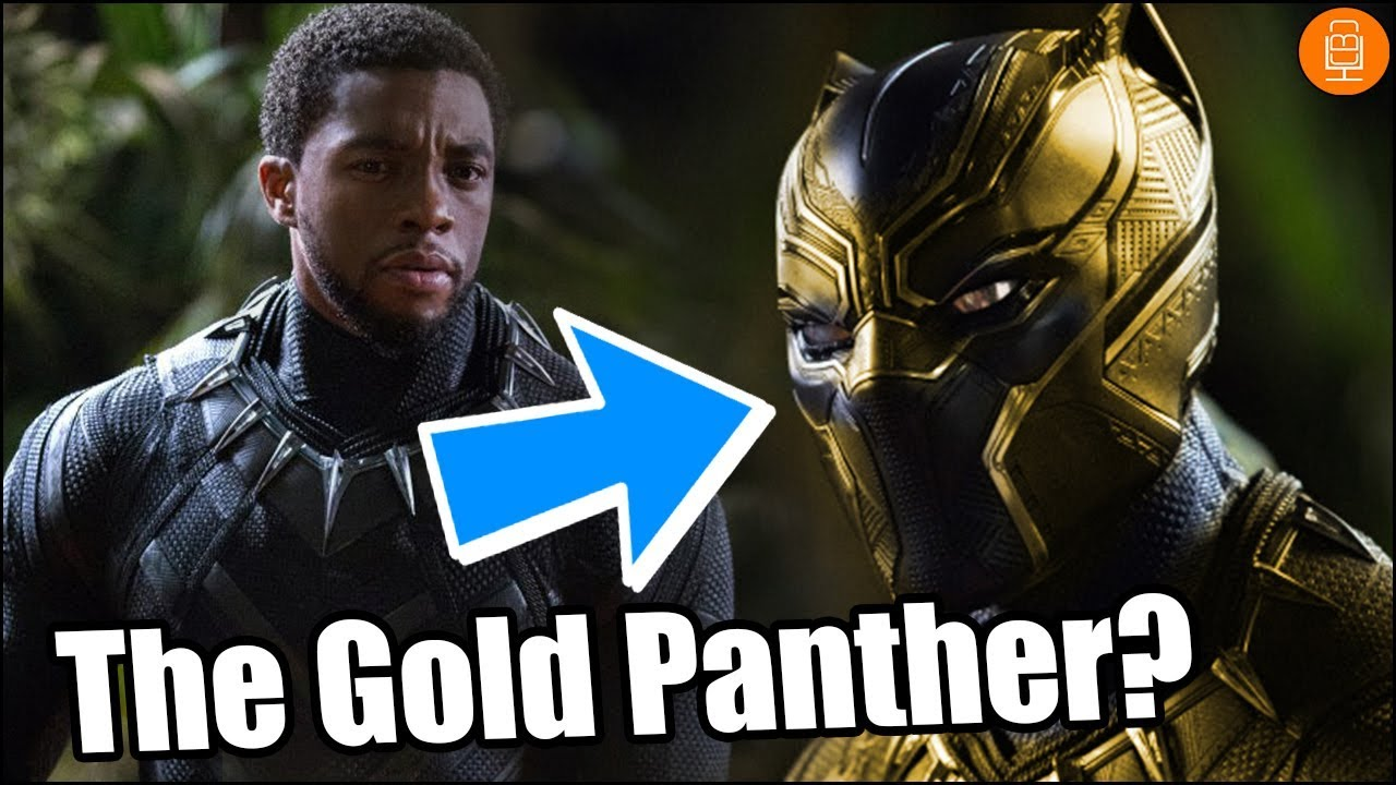 erik killmonger will put on a gold panther suit in black