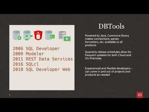 Accelerate development of data driven applications with Oracle's DatabaseTools