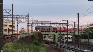 名鉄3150系 3163f+名鉄3500系更新 3501f(準急新可児行き)神宮前駅 入線‼️