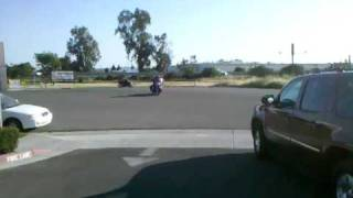 Bagger cruiser doing standup wheelie