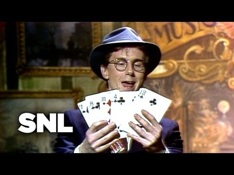 Guest Performer: Harry Anderson Card Trick - Saturday Night Live