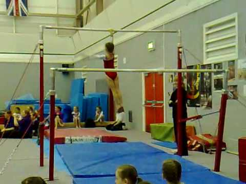 Lauren Haddock bars gymnastics grade 14 bars gym.mp4