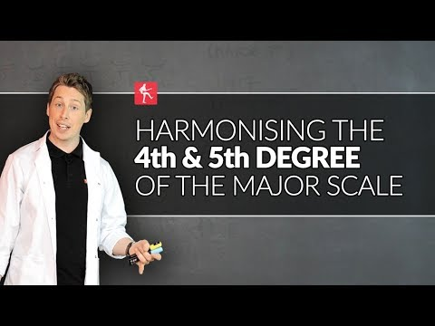harmonising the 4th & 5th degree of the major scale   guitar theory lesson