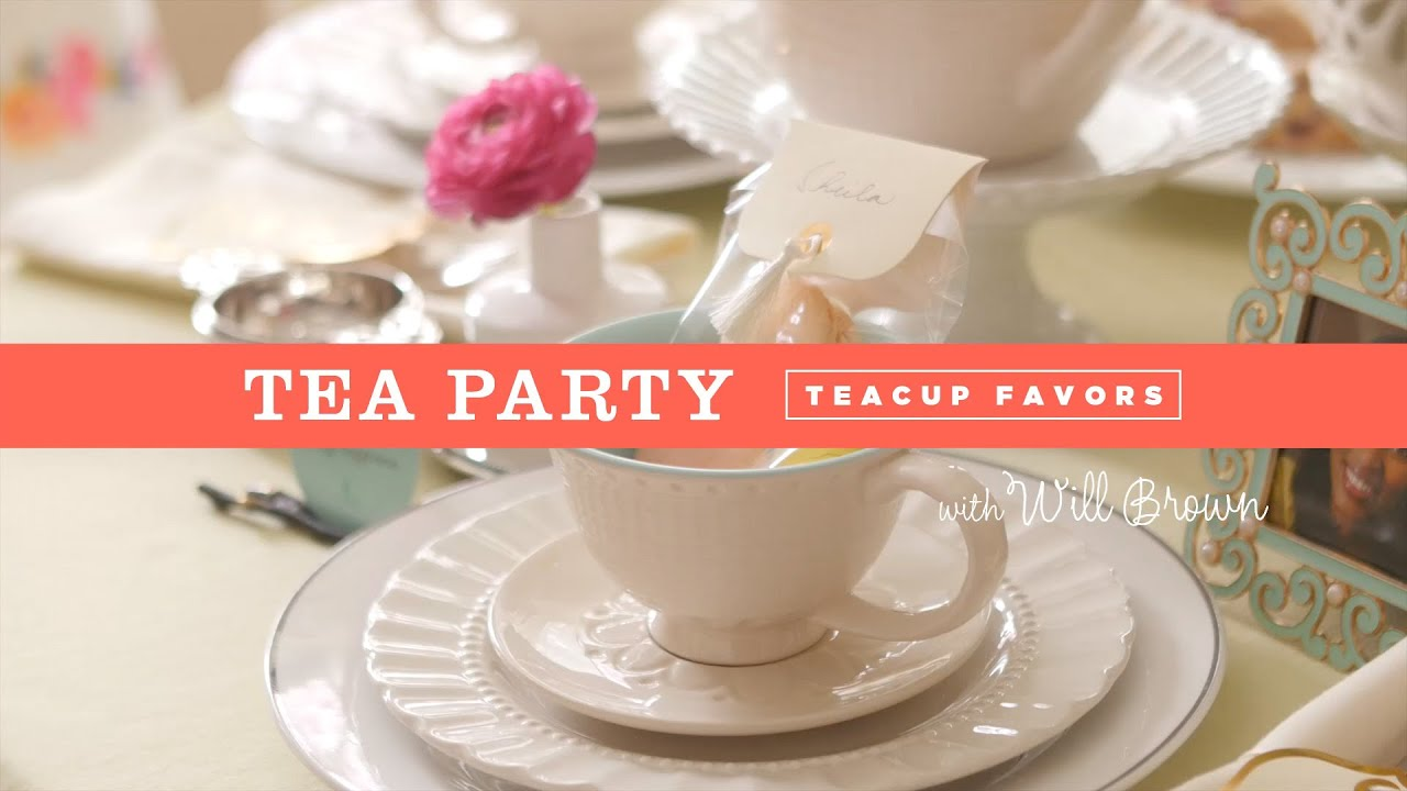 How to make tea cup party favors