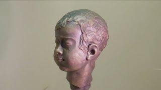 Завершение портрета мальчика (уроки скульптуры и рисунка)